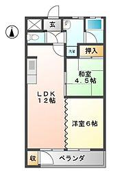 愛知県名古屋市名東区文教台1丁目の賃貸マンションの間取り