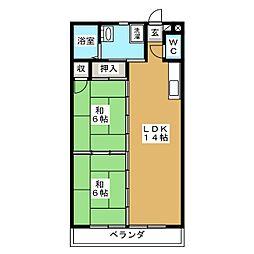 メルシーハイツ飯田A[3階]の間取り