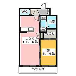 STORK HILLS HAMAKITA[2階]の間取り