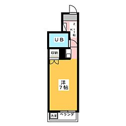 エトワール本庄第1[3階]の間取り