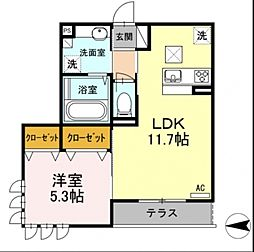 東京都練馬区貫井4丁目の賃貸アパートの間取り