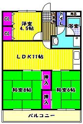 エントピア置田[3階]の間取り