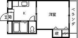 ロイヤルフォート今津[205号室]の間取り