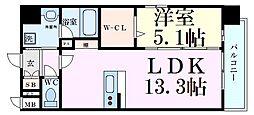 Osaka Metro谷町線 天神橋筋六丁目駅 徒歩3分の賃貸マンション 3階1LDKの間取り