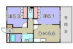 滋賀県東近江市五智町の賃貸マンションの間取り