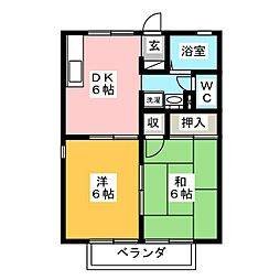 セジュールソネット[1階]の間取り