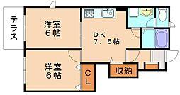 ベルデュールII[1階]の間取り