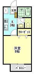 ジュネス曙 A[1階]の間取り