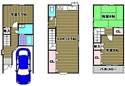 [一戸建] 大阪府河内長野市市町 の賃貸【/】の間取り
