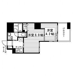 ARTIS仙台木町通 7階2Kの間取り