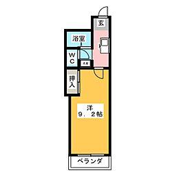 アネックス高蔵寺[3階]の間取り