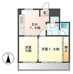 ハイツ東桜[8階]の間取り