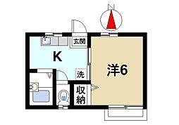 奈良県奈良市南新町の賃貸アパートの間取り