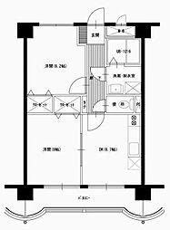 松橋マンション[408号室]の間取り