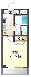 神奈川県川崎市幸区戸手1丁目の賃貸マンションの間取り
