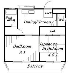 サンハイツ[3階]の間取り