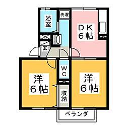 メゾン・ラポール[2階]の間取り