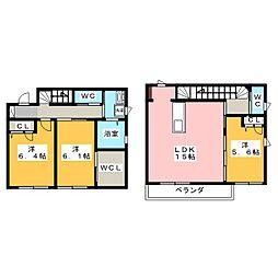 [テラスハウス] 岡山県岡山市北区今7丁目 の賃貸【/】の間取り