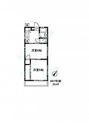 063702 丸忠マンション[3階]の間取り