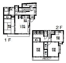 [一戸建] 東京都中野区若宮3丁目 の賃貸【/】の間取り
