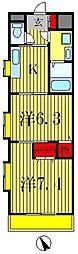 トーエーハイツ[3階]の間取り