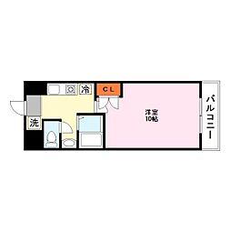都市ガスRacoonD3〜ラクーンディースリー〜[4階]の間取り