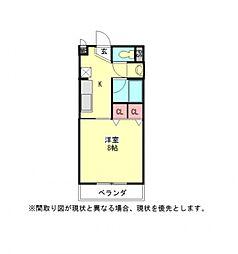 愛知県江南市今市場町美和の賃貸アパートの間取り