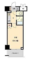 仙台市地下鉄東西線 国際センター駅 徒歩10分の賃貸マンション 5階1Kの間取り