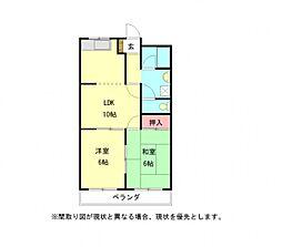 愛知県小牧市大字東田中の賃貸アパートの間取り