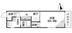 東京都新宿区南榎町の賃貸マンションの間取り