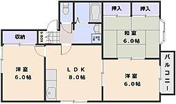 第一クレセール A棟[2階]の間取り