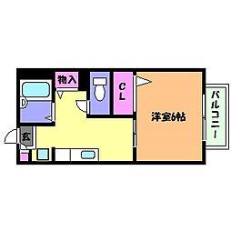 兵庫県神戸市灘区八幡町1丁目の賃貸アパートの間取り