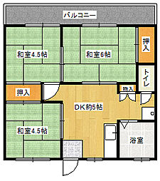 松藤アパート[201号室]の間取り