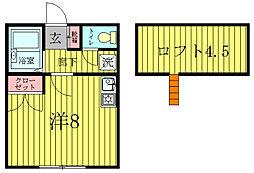 コーポ逆井[2階]の間取り