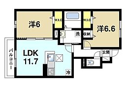 JR片町線(学研都市線) 木津駅 バス8分 城山台5丁目バス停下車 徒歩3分の賃貸アパート