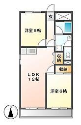 シティアーク新栄[5階]の間取り