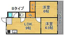 タカイレジデンス[5階]の間取り