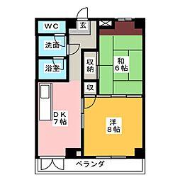 コーポ静岡二番町[2階]の間取り