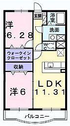 セントラル・アンフィニティD[3階]の間取り