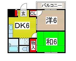 ハイツ吉田[201号室]の間取り