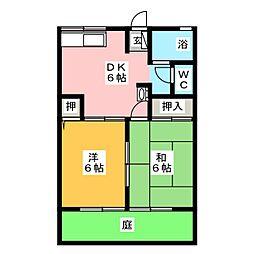 シティハイムソレイユ[1階]の間取り
