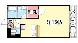 ウィスティリアコート神戸2[201号室]の間取り