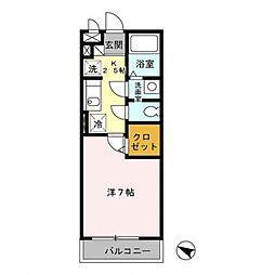 パピヨン南大沢[102号室号室]の間取り