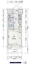 JR大阪環状線 鶴橋駅 徒歩3分の賃貸マンション 5階1Kの間取り