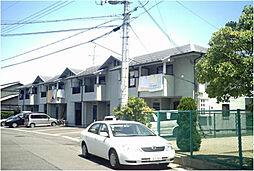 滋賀県湖南市柑子袋の賃貸アパートの外観