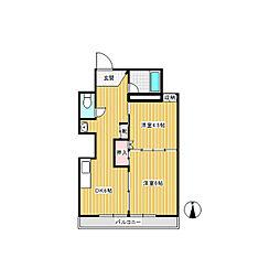 きくやアパート[3階]の間取り