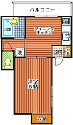 いしのマンション[2階]の間取り