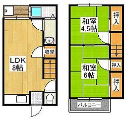 [一戸建] 京都府京都市伏見区村上町 の賃貸【/】の間取り