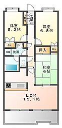 ハイツ甲四公園[2階]の間取り