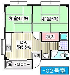 仁平マンション[302号室]の間取り